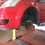 MOT failure work being carried out on a Citroën C2 GT