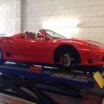 Ferrari front brakes cleaned