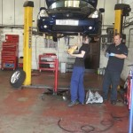 Fitting a new clutch on a Toyota Celica